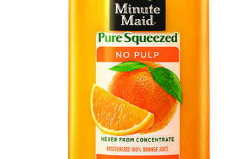 Coca-Cola launched the pure squeezed range in August