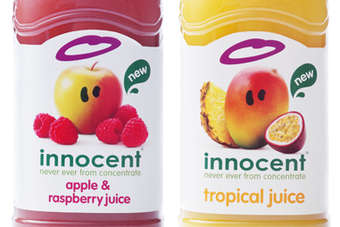 Click through to view Innocent Drinks juice blends