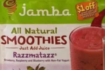 Jamba Juice Co and Inventure Food's All Natural Smoothies