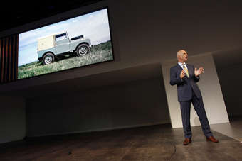 The original Land Rover, and John Edwards. The next Defender should be launched some time after mid-2016