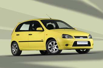 The Lada Kalina Sport with the Prime Minister Putin preferred option of canary yellow paint