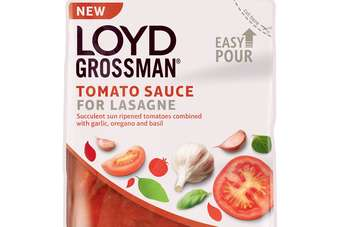 Premier Foods has launched a new Loyd Grossman lasagne sauce in a pouch format
