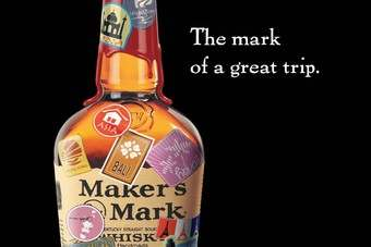 The new Makers Mark travel retail advert
