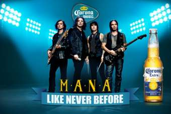Mexican rock legends Maná have once again hooked up with Corona Extra