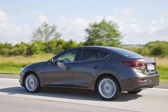 The 2014MY Mazda3 sedan is due to be on sale in North America in the fourth quarter
