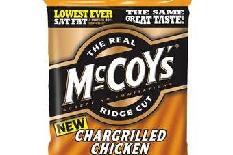 McCoys has updated its packaging and added a new Chargrilled Chicken variety to the range