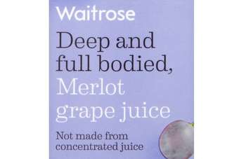 Click through to view Waitroses Merlot grape juice