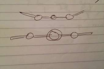 Muller sketches what Saab logo might have been