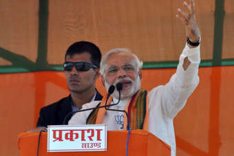 Narenda Modis BJP party indicated apparent tough stance on FDI in Indias retail sector