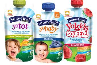 US: Danones Stonyfield, Happy Family team up for yoghurt pouch launch