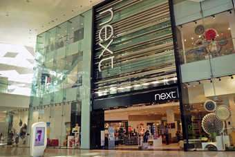 Sales at traditional Next stores edged up 0.4% in the quarter