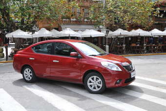 Nissan Versa is imported into Brazil from Mexico