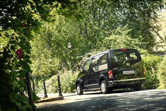 NV200 van is again the base for Nissans latest venture into a big city taxi market