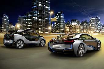 BMW i3 and i8. The use of carbon fibre reinforced plastic (CFRP) for body panels is finding favour where  weight saving is at a premium and can justify the additional costs - for example, in premium electric/hybrid models
