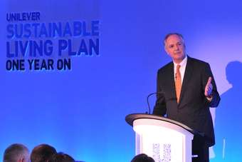 Unilever CEO Paul Polman urged business and government to think differently on sustainability