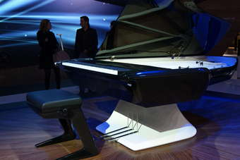 A motor show first, the unveiling of a piano, designed by Peugeot