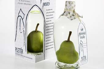 UK: Slovenian monastery unveils pear-in-a-bottle brandy