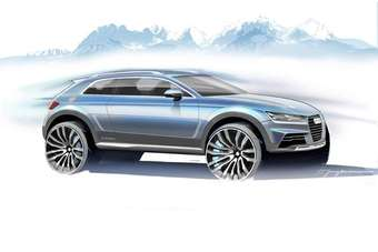 The styling of future Audis will be previewed by this crossover concept at Januarys Detroit show