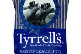 UK: Tyrrells adds pork scratchings to product line