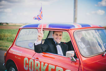 Corkers co-founders Rod Garnham (drivers seat) and Ross Taylor (passenger)