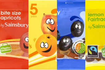 Sainsburys kids fruit snacks and smoothies ranges