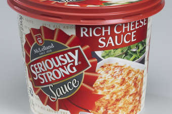 Seriously Strong Cheese Sauce is for use as both a pour over and cooking sauce