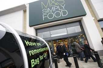 Marks & Spencers food sales were held up by a record Christmas trading period for the unit
