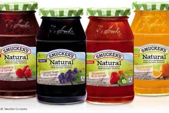 "The Natural Fruit Spreads are made with ""quality ingredients from natural sources"", Smucker says"