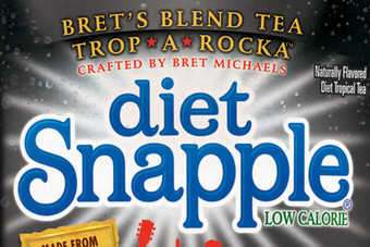 Dr Pepper Snapple Group's Diet Snapple Trop-a-Rocka Tea and Peetes Snapple Compassionberry Tea