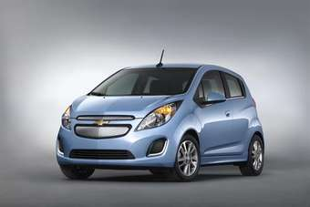 The 2014 Chevrolet Spark EV, unveiled at the 2012 Los Angeles Auto Show and on sale next summer