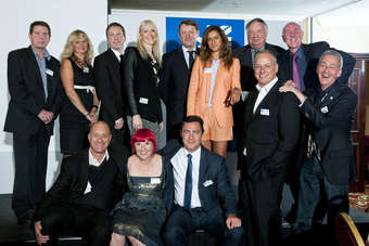 From left back row: Mark Lyness, Lectra UK; Jenny Holloway, Fashion Enter; Ian Simes, J Barbour & Sons; Julie King, ASBCI event chairman; James Dracup, Johnstons of Elgin; Sangita Khan, Buff Clothing; Eddie Jones,  Kufner Textil; Michael Bentley, NWTexnet; Michael Stoll, Cooper & Stollbrand; Katie Greenyer, Pentland Group; Jonny Mitchell, Courtaulds Brands; Michael Spenley, Compliance Direct Company and Daniel Hanson, Daniel Hanson