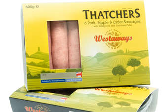 Westaways has produced a Pork, Apple and Cider Sausage using Somerset cider from Thatchers