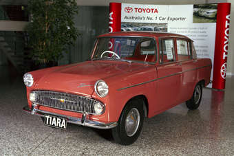 Australian-made 1963 Tiara was first Toyota passenger car assembled outside Japan; Landcruiser assembly began in South America in late 50s