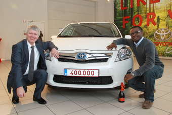 The milestone 400,000th hybrid is a company car in Belgium, where Toyota Europe is based
