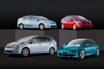 The Japanese earthquake had delayed Toyotas launch of an expanded Prius hybrid model line