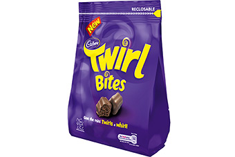Kraft has used pouch packaging for confectionery lines in the UK, including Twirl Bites