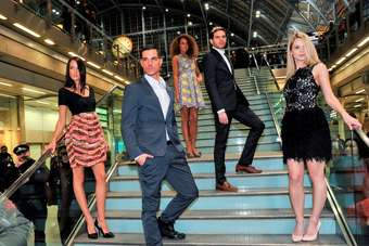 A flash fashion show took place at St Pancras station on Tuesday night
