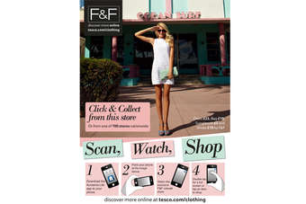 Posters of F&F clothing will appear in the windows of Covent Garden, Dean Street and Tooley Street flagship Metro stores
