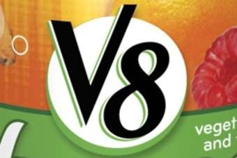 Click through to view Campbell Soup Cos V8 V-Fusion Sparkling juice drinks