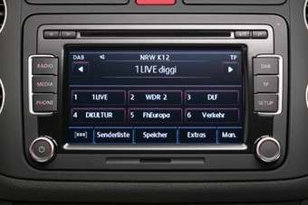 German DAB display on a receiver optional in VW models there
