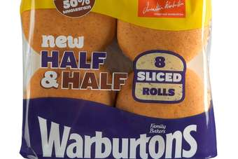 Half & Half Sliced Rolls join Warburtons Medium and Toastie loaves launched late last year