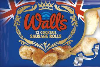 Walls has launched Royal Wedding themed cocktail sausage rolls