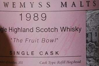 Click through to see Wemyss Malts Single Cask Bottlings