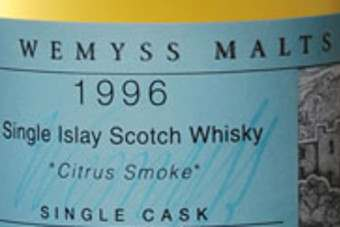 Click through to view Wemyss Vintage Malts Single Cask malt whiskies