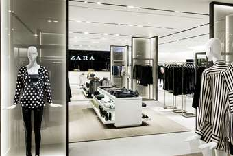 Zaras latest flagship store on Oxford Street, in London