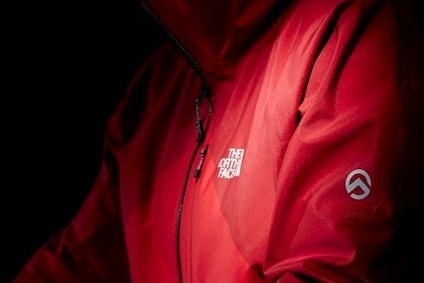 The North Face FuseUno performance jacket is constructed from a single piece of HyVent Alpha 3L fabric
