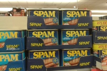 Spam-maker Hormel has reported a jump in profits for the first nine months of the year