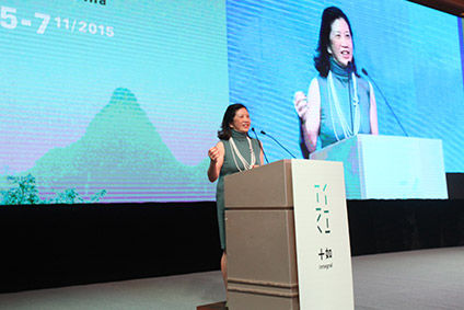 Marjorie Yang, chairman of Esquel Group, says the company puts a high priority on environmental development and sustainability