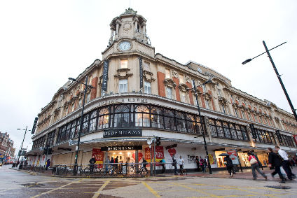 Debenhams said uncertain trading conditions impacted clothing