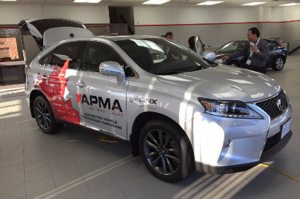 A connected car technology demonstration vehicle built for the Canadian autoparts manufacturers association by Studio 63 using a locally made Lexus as a base
